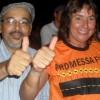 Ex-prefeita cumpre promessa e expõe cabeças dos 12 bois da inauguração da estrada