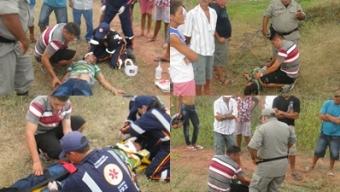 Acidente de moto deixa agricultor gravemente ferido na região do Vale do Rio do Peixe. Veja!