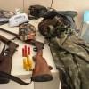 Milagres-CE: Polícia prende jovem com duas espingardas e fardamento camuflado do Exército.