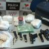 GTE de Cajazeiras apreende quase nove quilos de Drogas no bairro São Francisco zona sul da cidade.