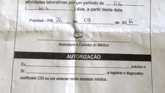 GTE de Pombal cumpre mandado de prisão contra albergado que estaria de atestado médico para participar de campanha política na cidade.