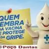 Secretaria Municipal de Saúde de Poço Dantas Alerta sobre início da Campanha de Vacinação contra gripe.