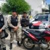 Policia Militar recupera mais uma moto roubada na tarde desta terça-feira.