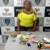 Grupo Tático Especial apreende drogas em residência em cumprimento de mandado de busca em Marizópolis.