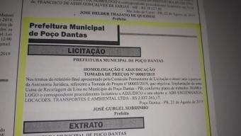 Sai resultado da licitação para construção do aterro sanitário em Poço Dantas, veja empresa ganhadora.