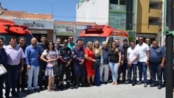 Prefeito Zé Aldemir entrega duas novas ambulâncias e anuncia funcionamento de mais um equipamento no CDI.