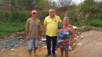 Prefeito Airton Pires visita obras de saneamento e retirada da lagoa no bairro Senhor Alexandre. Veja!