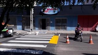 SCTRANS constrói mais duas faixas elevadas para garantir segurança dos pedestres em Cajazeiras. Veja!